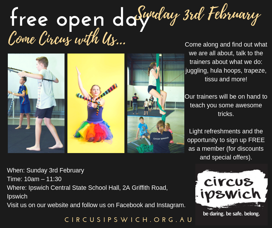 Open day Sunday 3rd February! Come say hi…